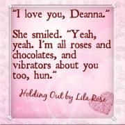"""""""I love you, Deanna."""""""